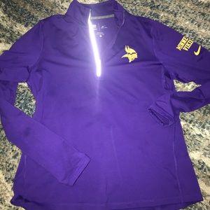 Nike MN Vikings 3/4 zip pullover